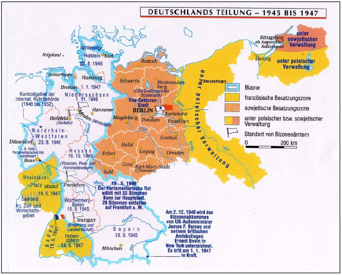 Historical Maps Of Germany - Germany map 1945